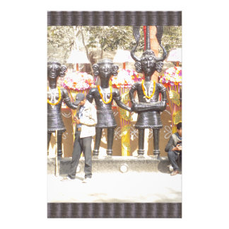 India cultural show statue of musicians artists customized stationery