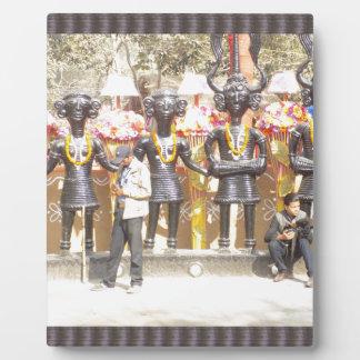 India cultural show statue of musicians artists plaques