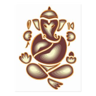 India Elephant Meditation Postcard