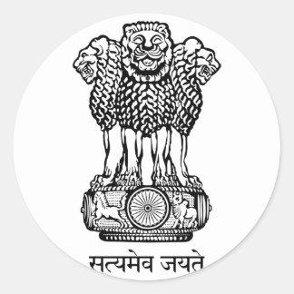 india emblem round sticker