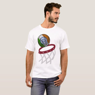 India Flag Basketball Hoop T-Shirt