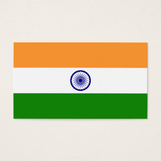 India Flag Business Card