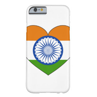 India Flag Heart Barely There iPhone 6 Case