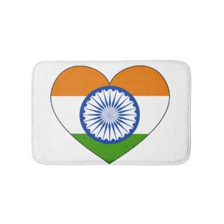 India Flag Heart Bath Mat
