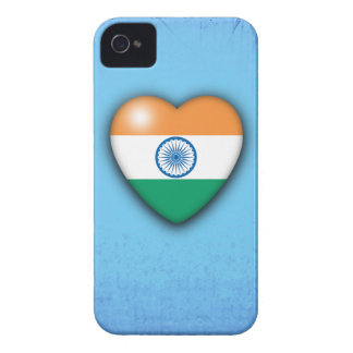 India Flag Heart pale blue background iphone iPhone 4 Case-Mate Case