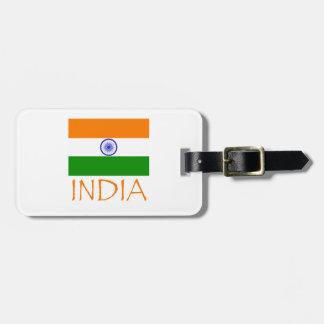 India Flag Luggage Tag