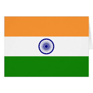 India Flag Note Card