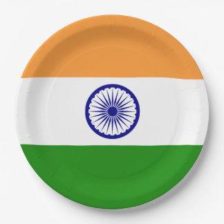 India Flag Paper Plate