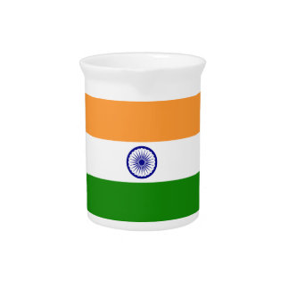 India Flag Pitcher