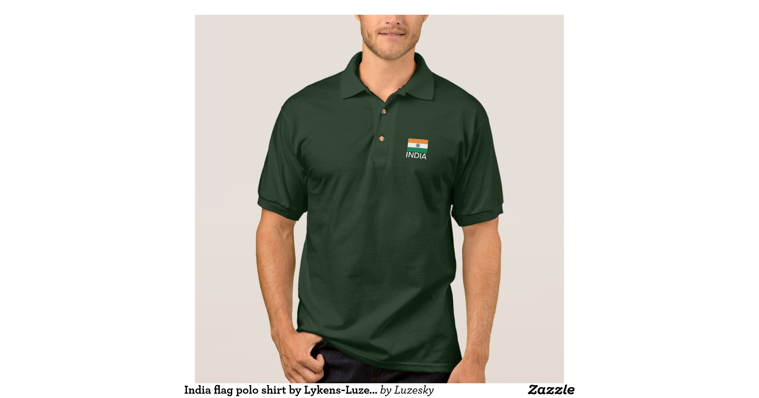 India flag polo shirt by lykens luzesky t shirts zazzle for Polo t shirts india