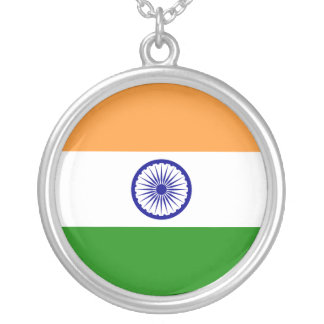 India Flag Silver Plated Necklace