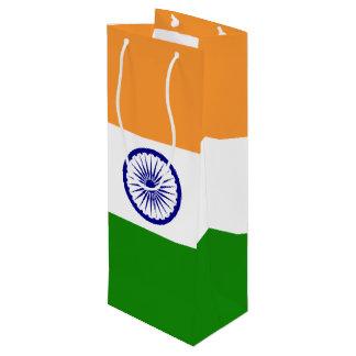 India Flag Wine Gift Bag