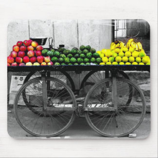 India Fruit Cart Mouse Pad