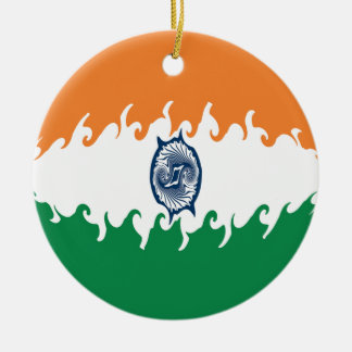 India Gnarly Flag Ornaments
