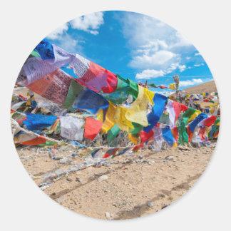 India, Jammu & Kashmir, Ladakh, Namshangla Pass Round Sticker