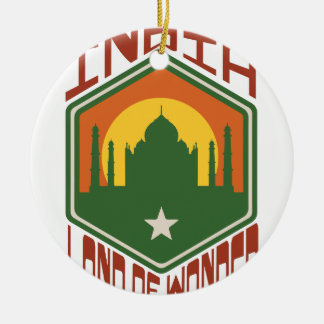 India Land Of Wonder Ceramic Ornament