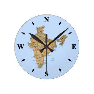 India Map Clock