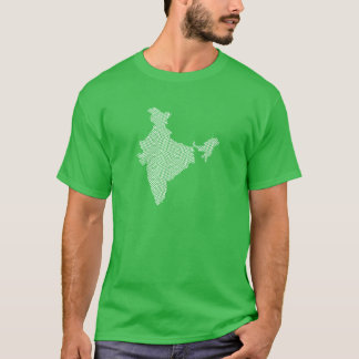 India Map with abstract geometric triangles T-Shirt