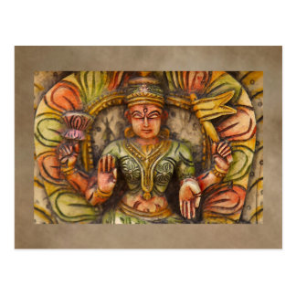 India Meditation Postcard