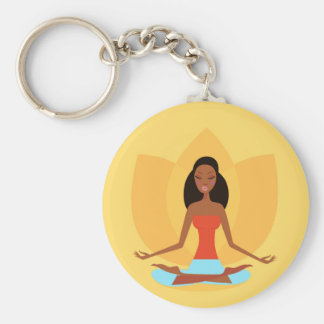 INDIA MEDITATION PRINCESS ART EDITION BASIC ROUND BUTTON KEY RING
