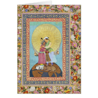 India Miniature Painting from 1618 Greeting Card