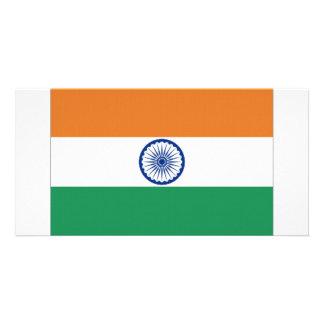 India National Flag Customized Photo Card