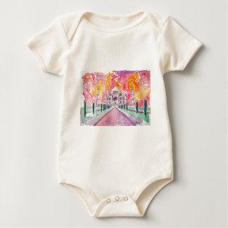 India palace at sunset baby bodysuit