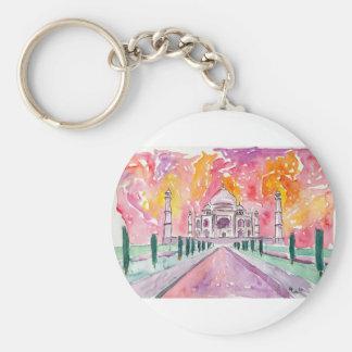 India palace at sunset key ring