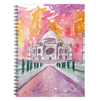 India palace at sunset notebook