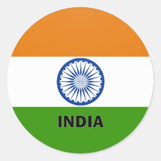 India Roundel quality Flag Classic Round Sticker
