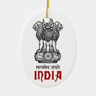 INDIA - seal/emblem/blazon/coat of arms Ceramic Ornament