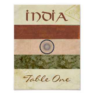 India Table Number Poster