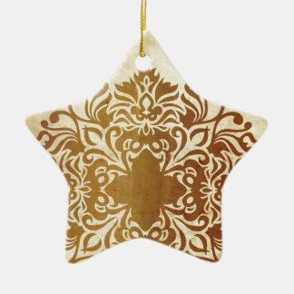 India Tea & Leaf Ceramic Ornament