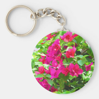 India travel flower bougainvillea floral emblem basic round button key ring