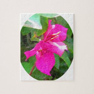 India travel flower bougainvillea floral emblem puzzle