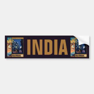 India Travel Poster collage bumpersticker Bumper Sticker