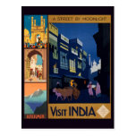 India Travel Poster collage postcards