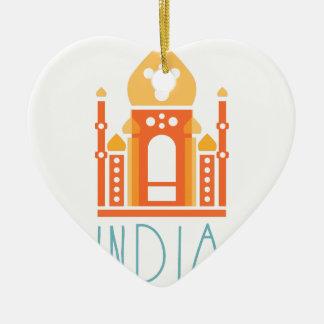 India yoga ceramic ornament