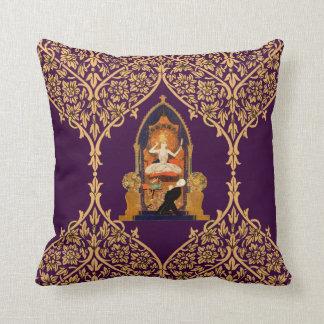 Indian Altar Worship Man Woman Goddess Decoration Throw Pillow