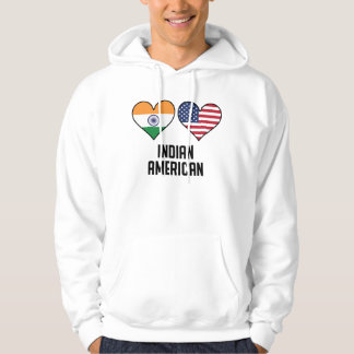 Indian American Heart Flags Hoodie