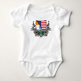 Indian-American Shield Flag Baby Bodysuit