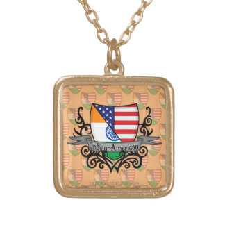 Indian-American Shield Flag Personalized Necklace