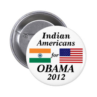Indian americans for Obama 6 Cm Round Badge
