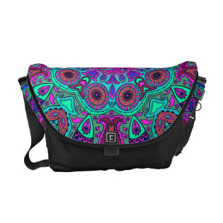 Indian and Chinese Happiness Mandala Courier Bag