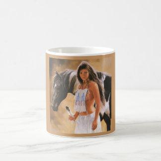 Indian and horse coffee mug