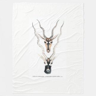 Indian Antelope Fleece Blanket