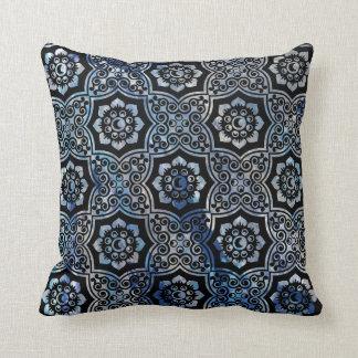 Indian Batik - Blue Throw Cushions