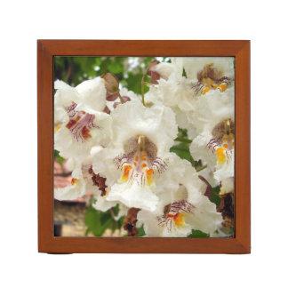 Indian Bean Tree Flowers Desk Organiser