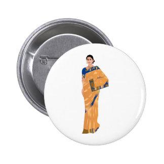 Indian Bride Clipart 6 Cm Round Badge