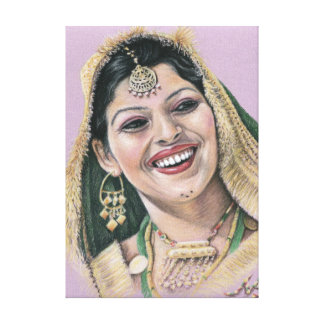 Indian Bride - Indian one bride Gallery Wrapped Canvas